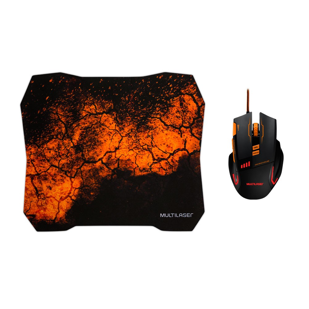 Kit Mouse Usb E Mouse Pad Gamer Multilaser Mo256