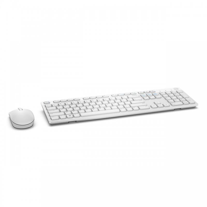 Kit Teclado E Mouse Sem Fio Dell Km636 - Branco Ol