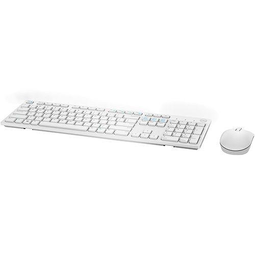 Kit Teclado E Mouse Sem Fio Dell Km636 - Branco