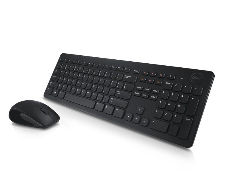 Kit Teclado E Mouse Sem Fio Dell Km636 Preto