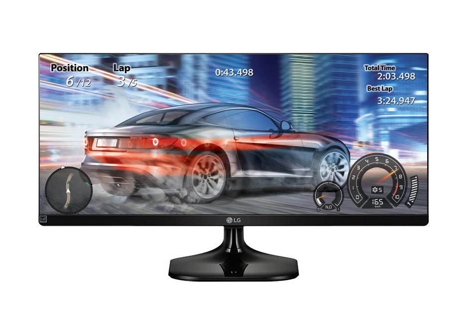 Monitor Led 25 Lg Gamer  Preto 25Um58-P 2X Hdmi Full Hd 2560X1080