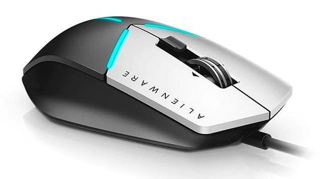 Mouse Dell Alienware Advanced Gamer Aw558 5000Dpi Preto E Prata
