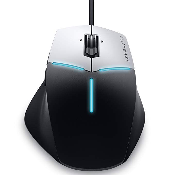 Mouse Dell Alienware Advanced Gamer Aw558 5000Dpi Preto E Prata
