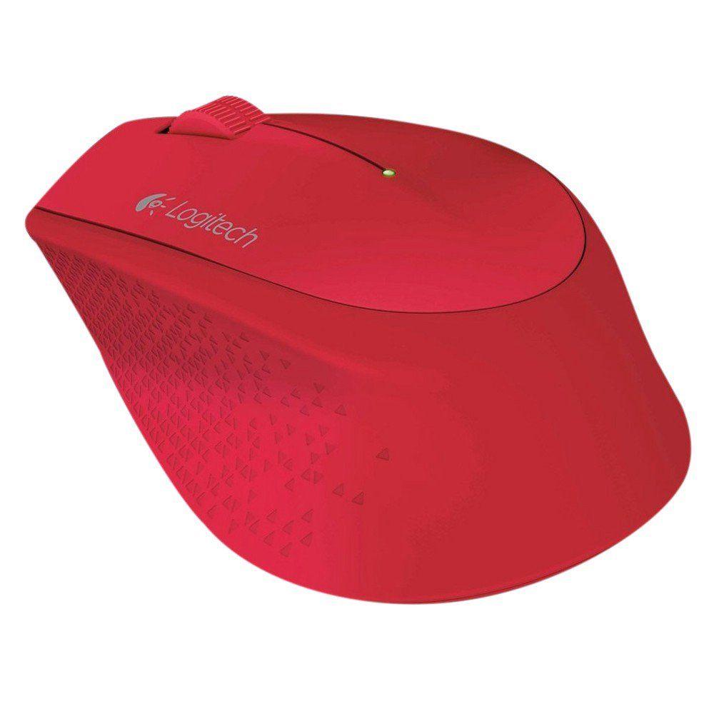 Mouse Mini Wireless Logitech M280 Vermelho