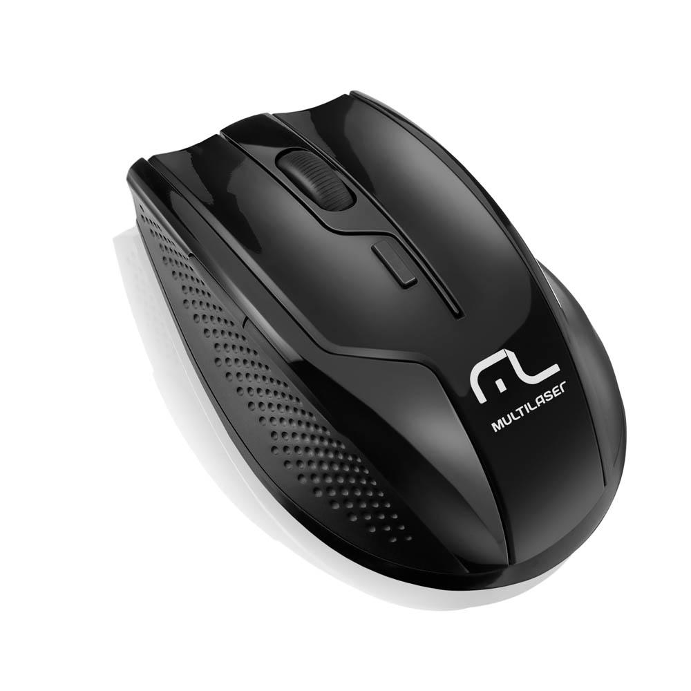 Mouse Wireless Usb 2.4 Ghz 1600 Dpi Mo221 Preto Multilaser