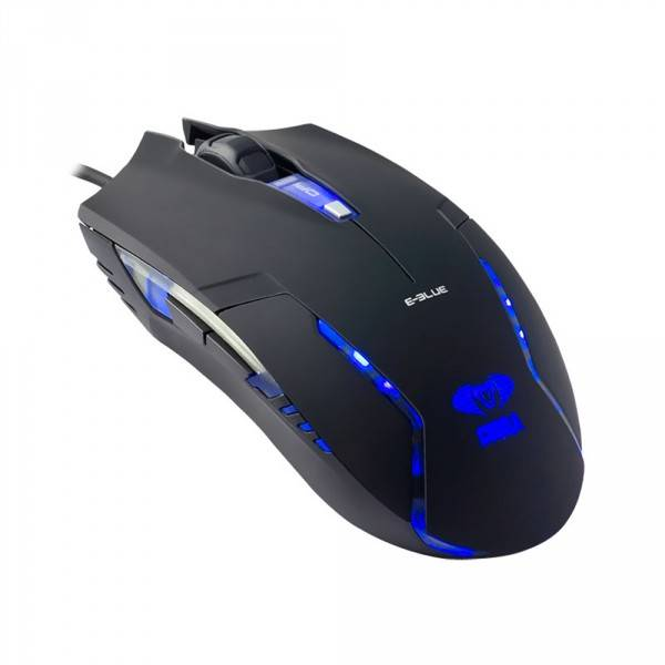 Mouse Usb Gamer E-Blue Cobra Ii  Led Azul 400| 800| 1600 Dpi - Ems151Bk
