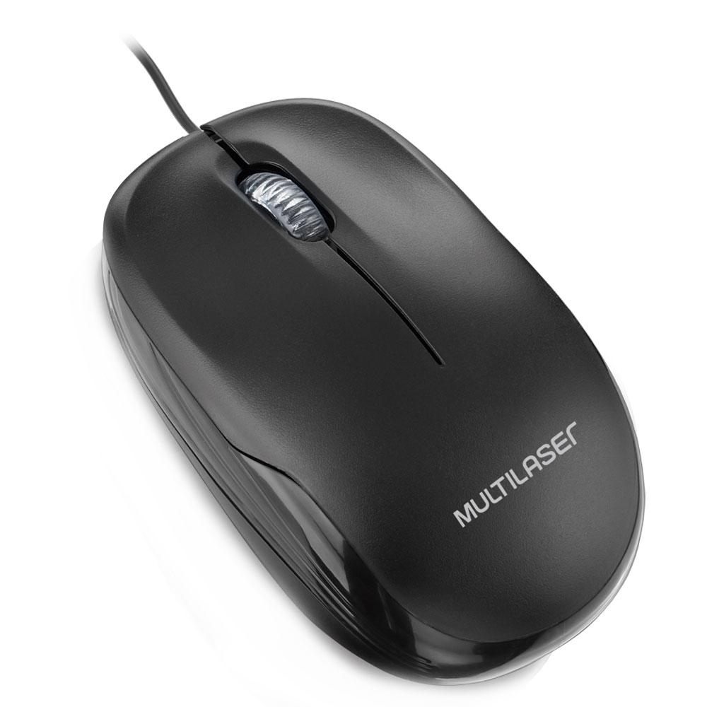 Mouse Usb Multilaser Preto Mo255