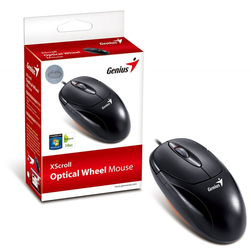 Mouse Usb Optico Preto Genius