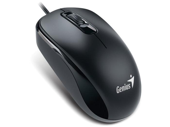 Mouse Usb Optico Preto Genius Dx-110