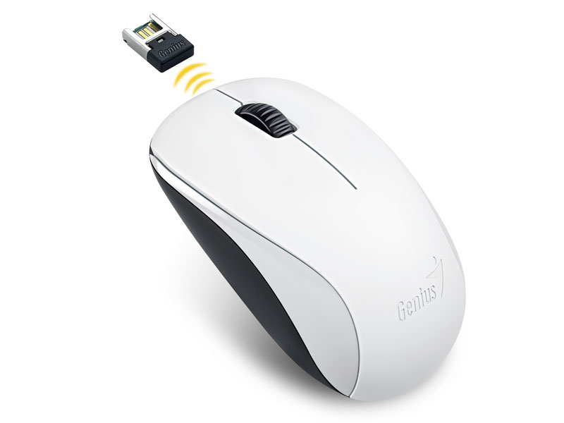 Mouse Wireless Nx-7000 Blueeye Branco 2,4 Ghz Genius