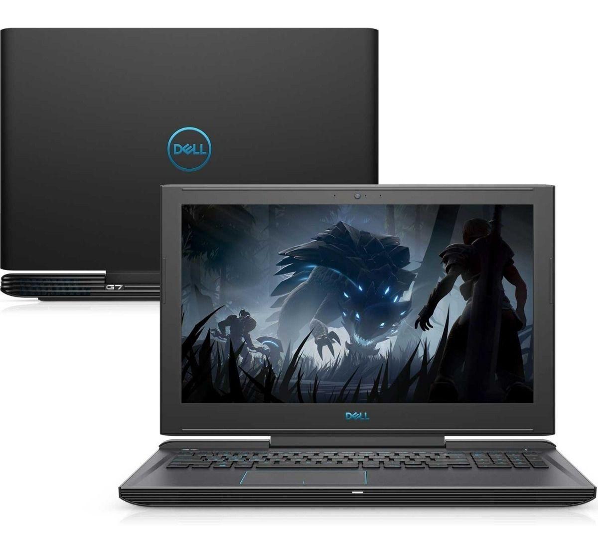 Nb Dell G7 7588 I7 8750H| Ssd256Gb| Hd1Tb| 16Gb| Gt1050Ti(4Gb)| 15| W10Home| Preto