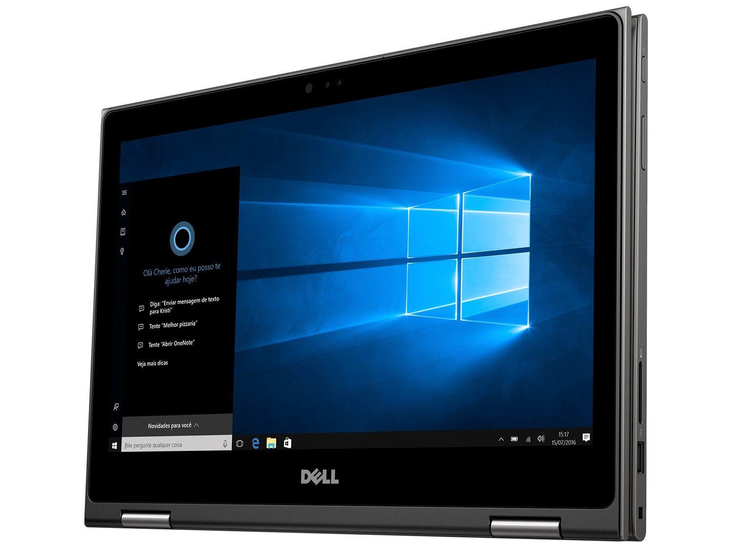 Notebook Dell Inspiron 2-1 5368 I5-6200U | 1Tb| 8Gb| Wifi| 13| Touch| W10Home Preto
