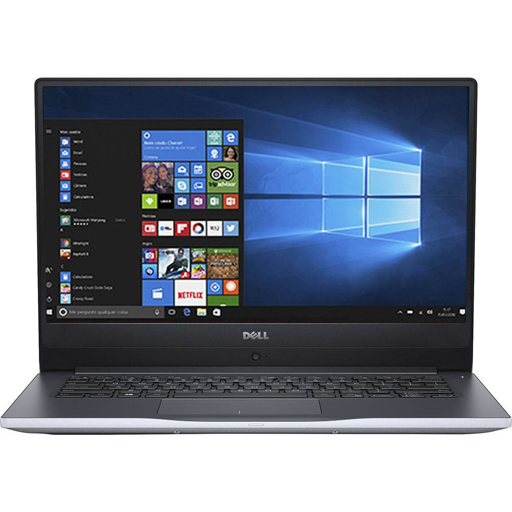 Notebook Dell Inspiron 7560 I7 7500U | 1Tb| Ssd128| 16Gb| Gf-940M(4Gb)| 15| W10Home| Prata