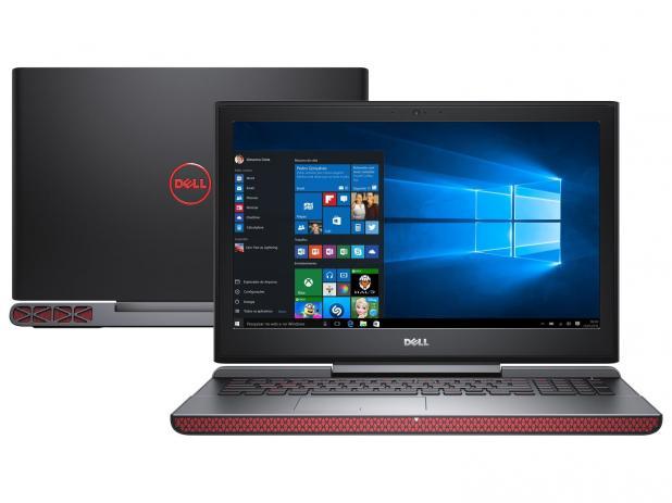 Nb Dell Inspiron 7567 I7 7700Hq 3.8Ghz/8Gb/1Tb/Gtx1050Ti(4Gb)/15/Win10Home/Preto