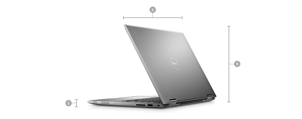 Notebook Dell Inspiron 5368 I5-6200U 2.3Ghz | 1Tb | 8Gb | Wifi | 13  Touch | W10Home Cinza