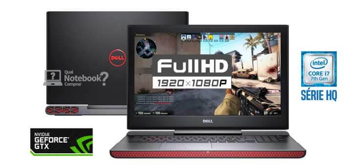 Notebook Dell Inspiron 7567 I7 7700Hq 2.8Ghz  16Gb  1Tb+Ssd256Gb  Gtx10504Gb  15  Us  W10 Home
