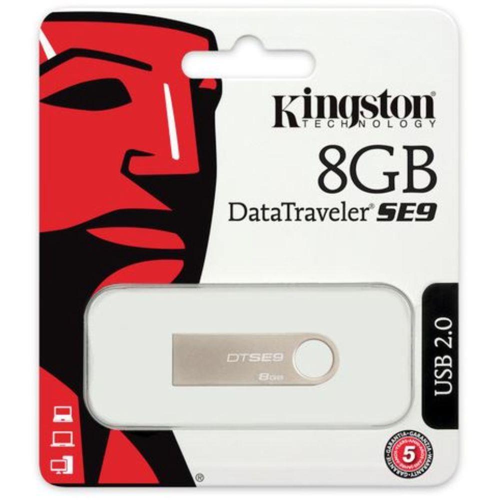 Pen Drive Kingston 8Gb Dtse9H Cinza