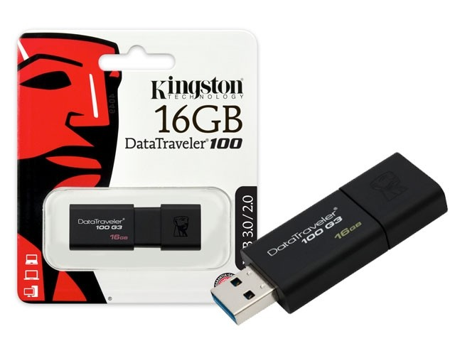 Pen Drive Kingston Data Traveler 100 16Gb - Dt100G3/16Gb