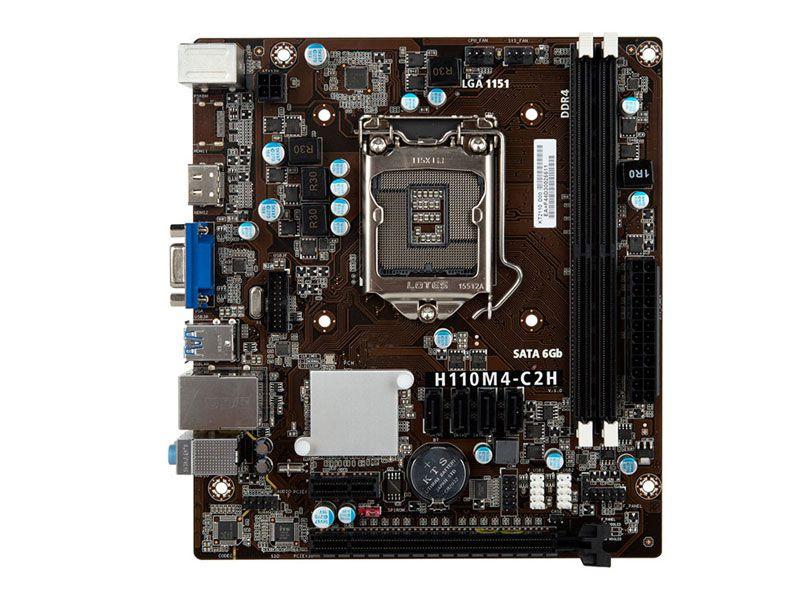 Placa Mae 1151 Centrium C2016-H110M4-C2H Matx Ddr4 2400Mhz