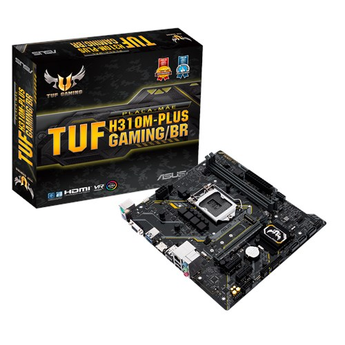 Placa Mae 1151 Pinos Asus Tuf H310M-Plus Gaming| Br Coffee Lake
