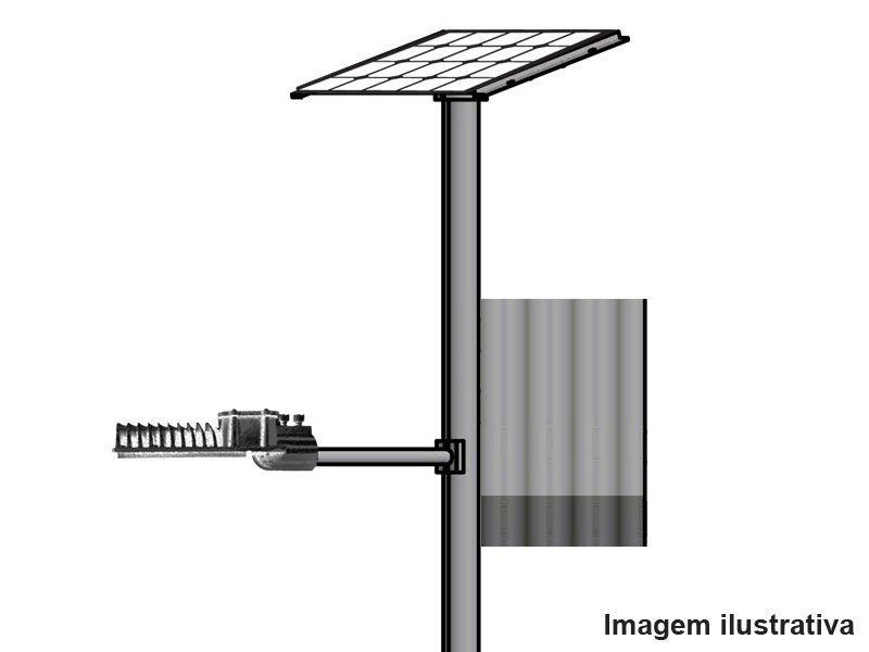 Poste Solar Autonomo Led 15W Painel 55W Bat 90A Bluesolar Victron Alum. S/ Base