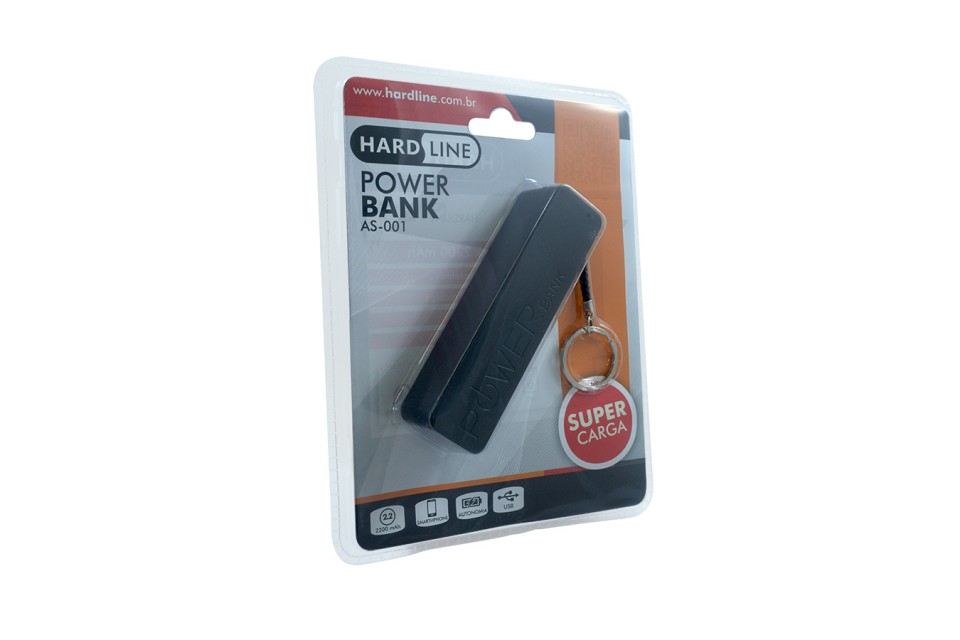 Power Bank As-001 Preto 2200 Mha Hardline