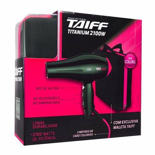 Secador Titanium Com Maleta 2100W Taiff 110V - Rosa