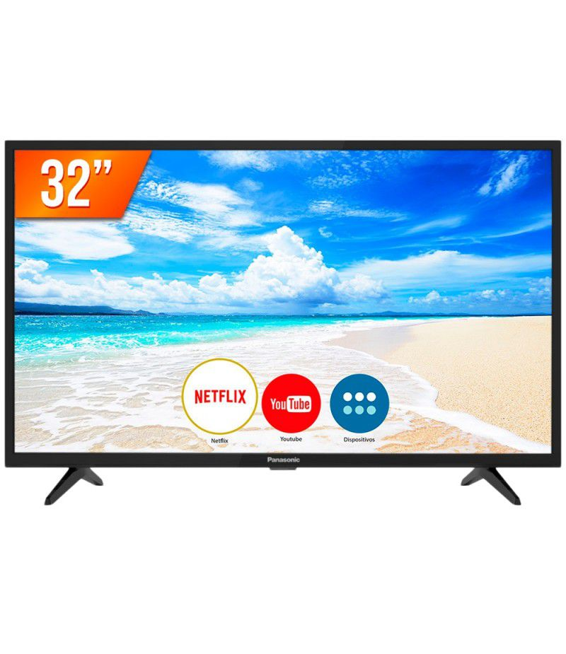 Smart Tv Led 32 Panasonic 32Fs500B Hdmi| Usb| Rede