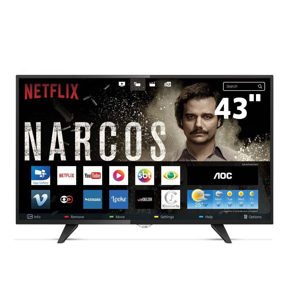 Smart Tv Led 43 Aoc Le43S5295S Full Hd| 3Xhdmi| 2Xusb