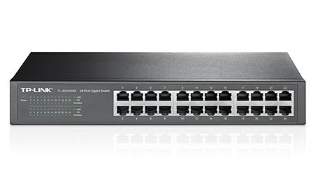 Switch 24 Portas 10| 100| 1000 Tp-Link Switch Tl-Sg1024D (Rack)