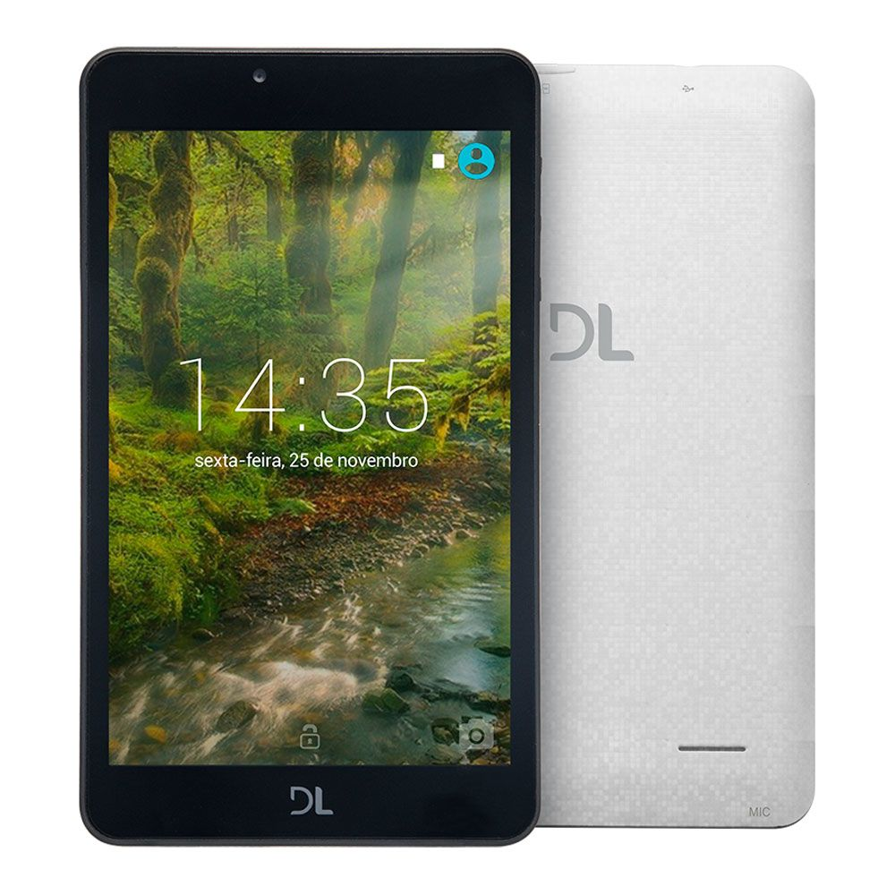 Tablet Dl Tx380Bra Qc| 1Gbram| 8Gb| 7| Wifi|  Branco