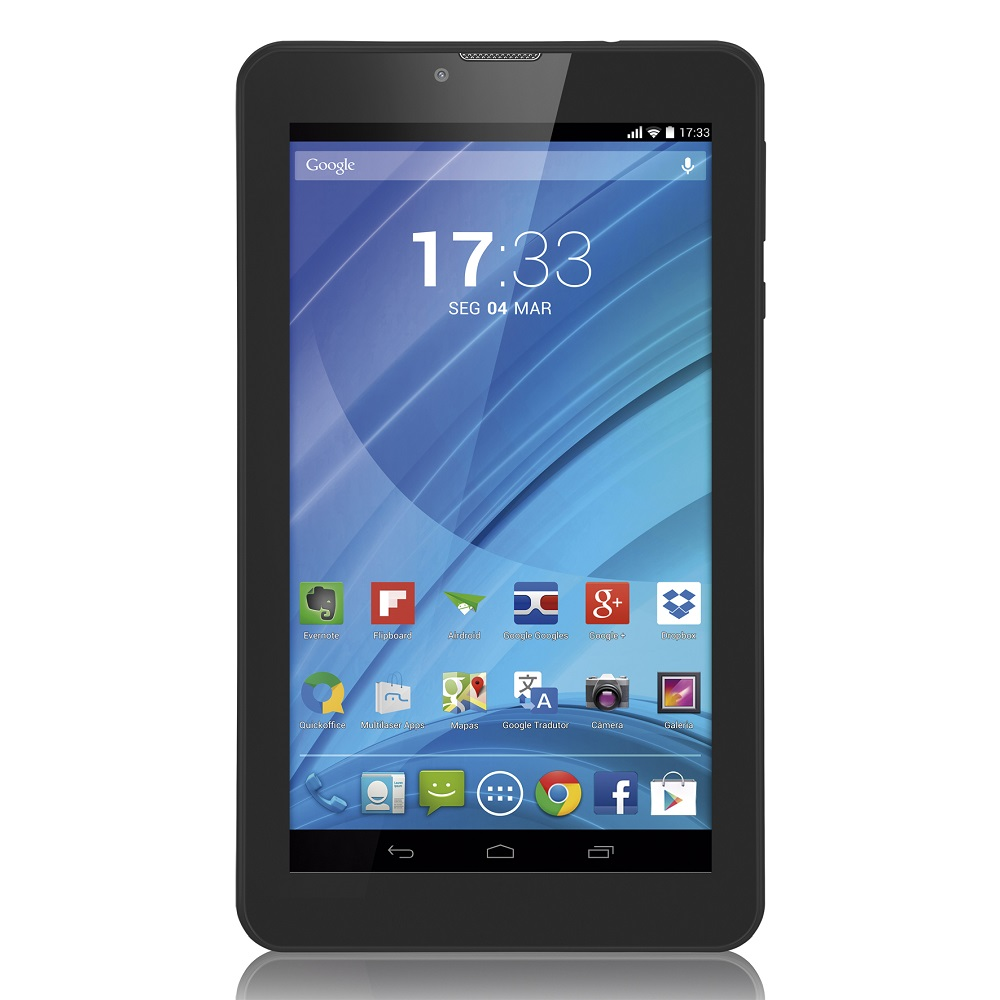 Tablet Multilaser M7-3G Nb223 Quadcore 8Gb Bluetooth Fm Android 4.4 7 Wifi Preto