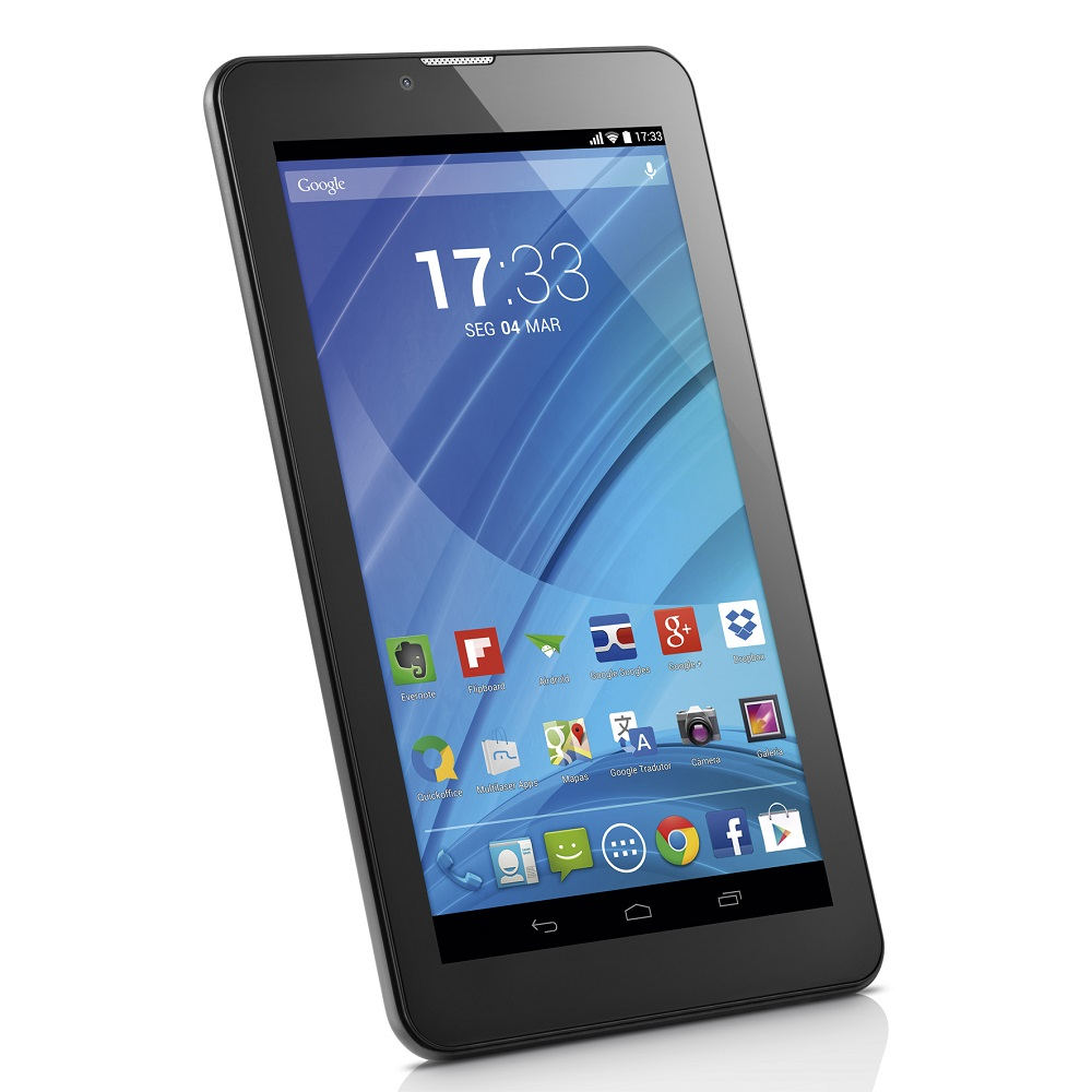 Tablet Multilaser M7-3G Nb223 Quadcore 8Gb Bluetooth Fm Android 4.4 7 Wifi Preto