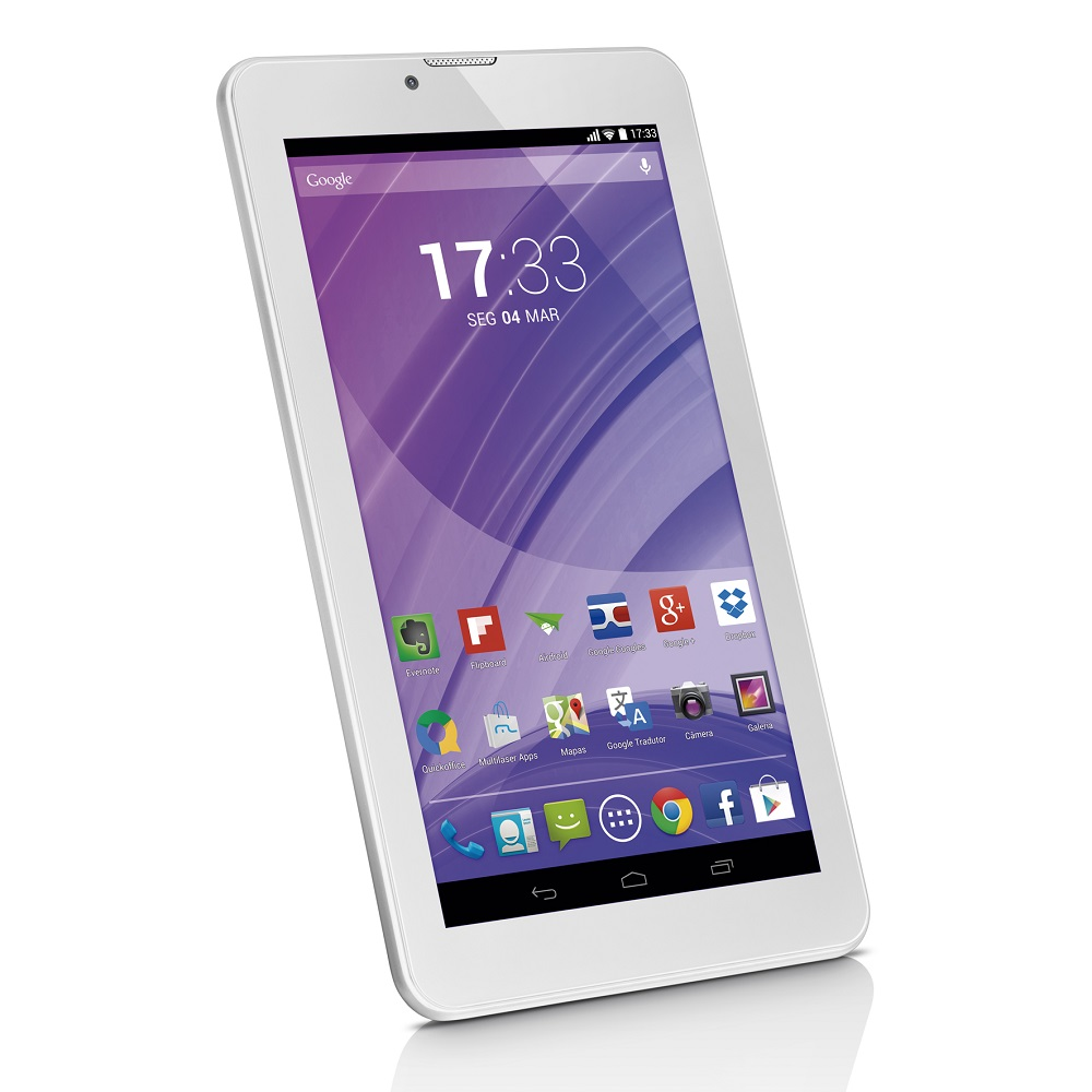 Tablet Multilaser M7-3G Nb224 Quadcore 8Gb Bluetooth Fm Android4.4 7 Wifi Branc