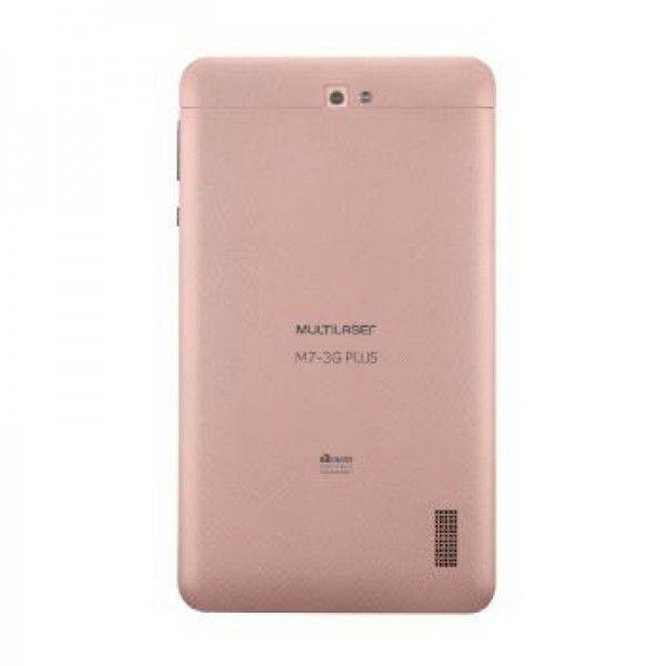 Tablet Multilaser Nb270 M7-3G Plus Cpu 1.3Ghz|8Gb|1Gbram|3G|7Ips Hd| Gold Rose