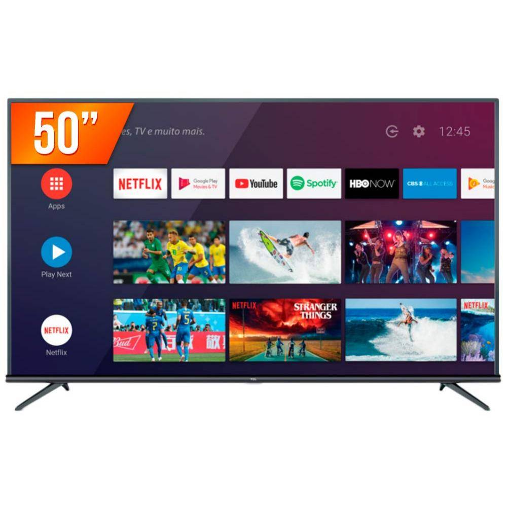 Smart Tv Led 50'' Tcl P8M 4K Android Tv| 3X Hdmi| 2X Usb 120Hz