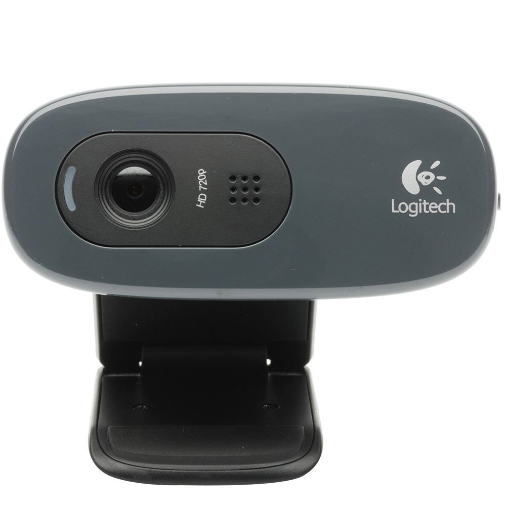 Web Cam 3.0Mp Logitech C270 Hd 720P Usb Preta