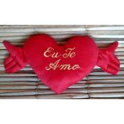 Coração pelúcia 43cm