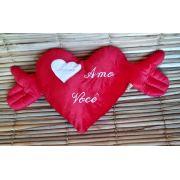 Coração pelúcia 70cm