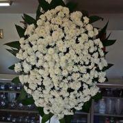 Coroa de Crisântemo Polar Branco