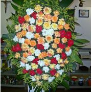 Coroa de Rosas colorida
