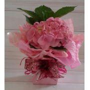 Hortência cor de rosa pote 13 no cachepô