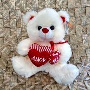"""Urso Pelúcia FE6818 Coração """"Amor"""""""