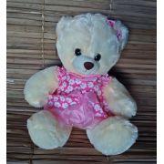 Urso Pelúcia vestido rosa