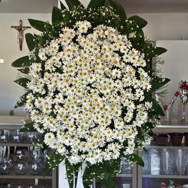 Coroa de Margaridas Branca