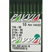 Agulha 134-35 R 140/22 GROZ-BECKERT  Agulha longa,  Caixa com 100 unidades