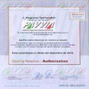 Agulha 134-35 R 160/23 GROZ-BECKERT  Agulha longa, Pacote com 10 unidades
