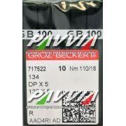 Agulha 134 R ou DPx5 R 110/18  GROZ-BECKERT Pacote com 10 unidades