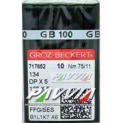 Agulha 134 R ou DPx5 R .75/11 GROZ-BECKERT Pacote com 10 unidades
