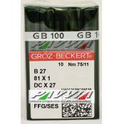 Agulha B 27 ou DC X 27 FFG .75/11 GROZ-BECKERT Pacote com 10 unidades